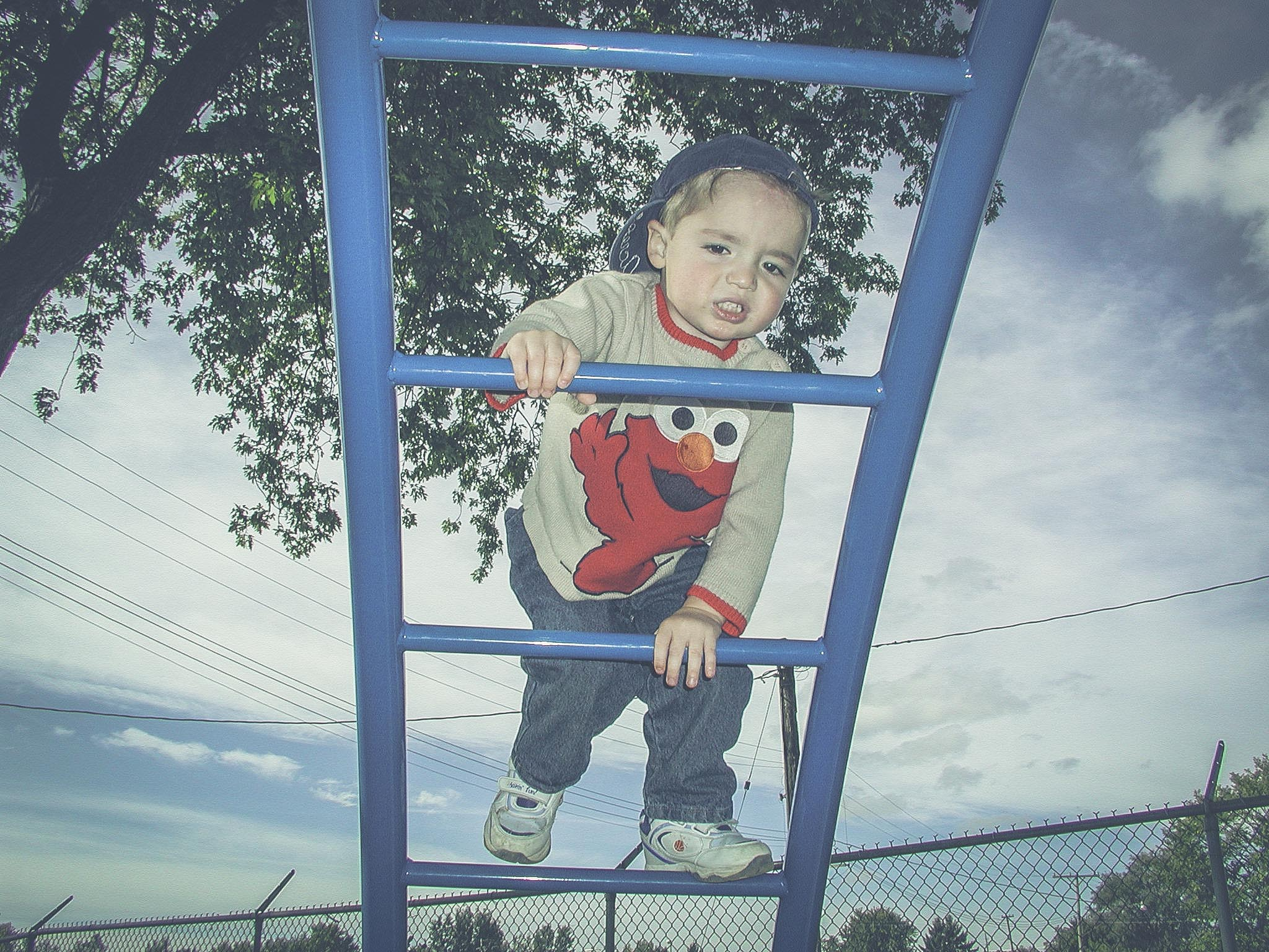 Cameron Climbing Ladder at Park