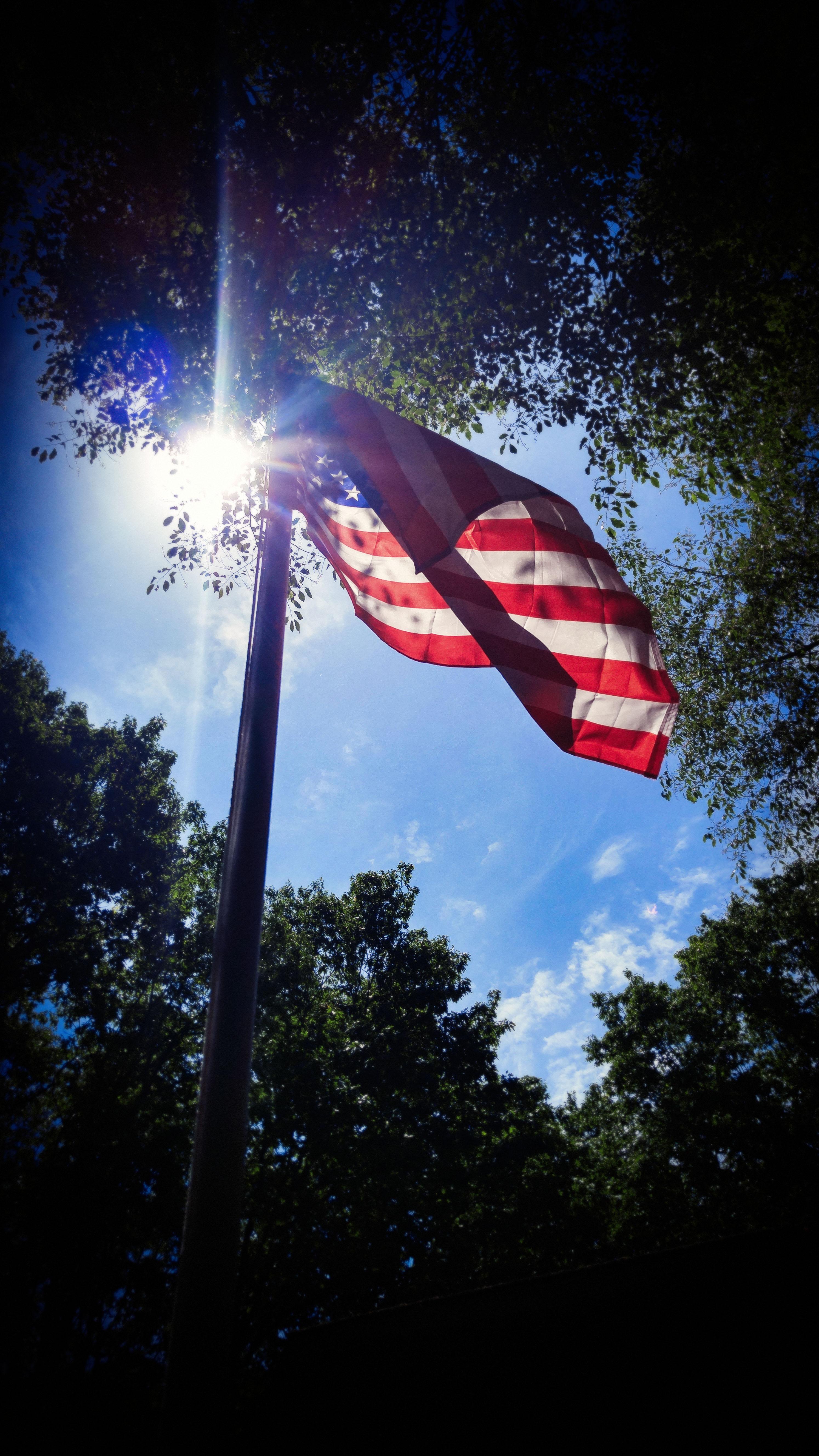 US Flag in my Yard