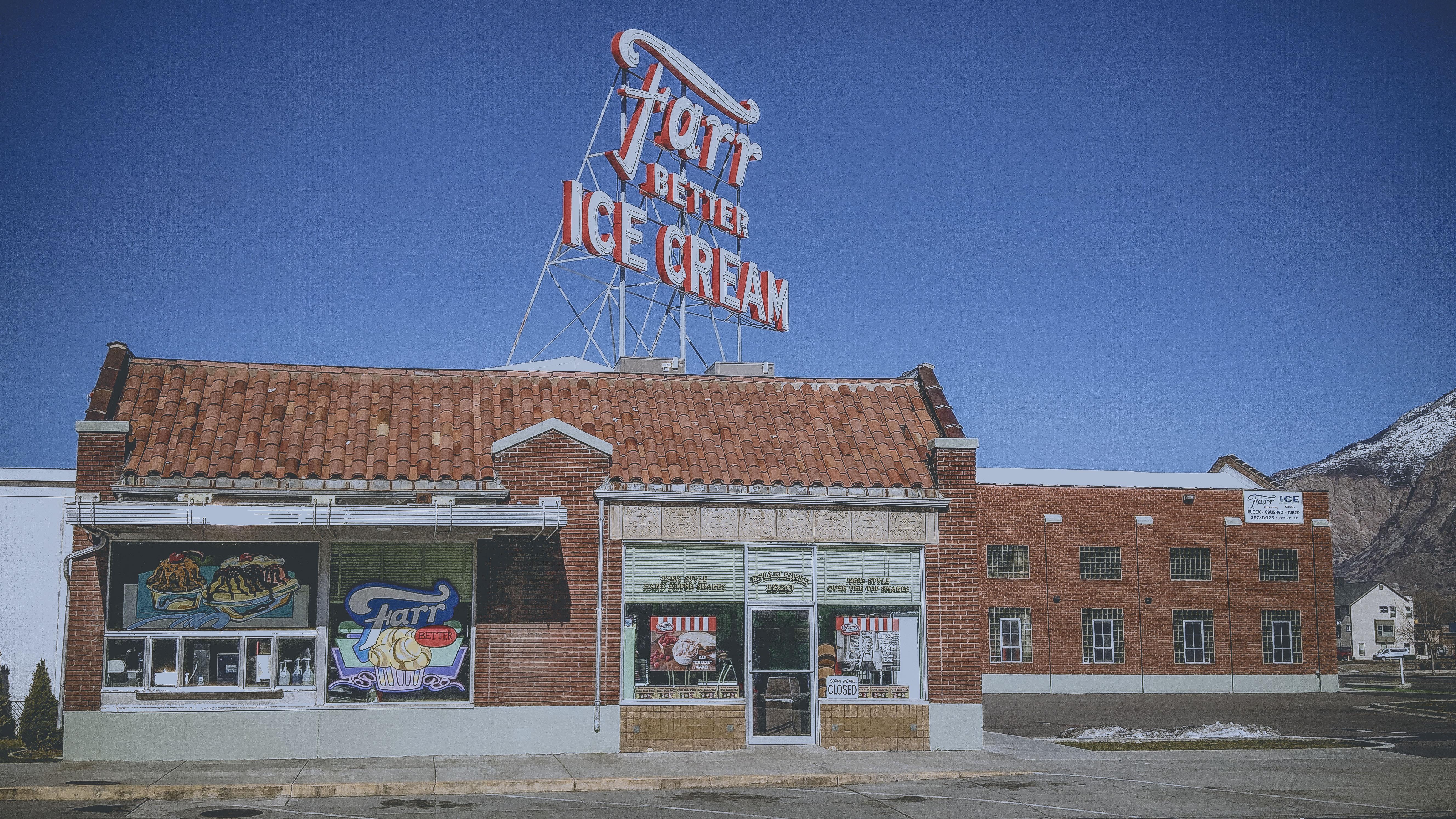 Farr Better Ice Cream, Ogden UT