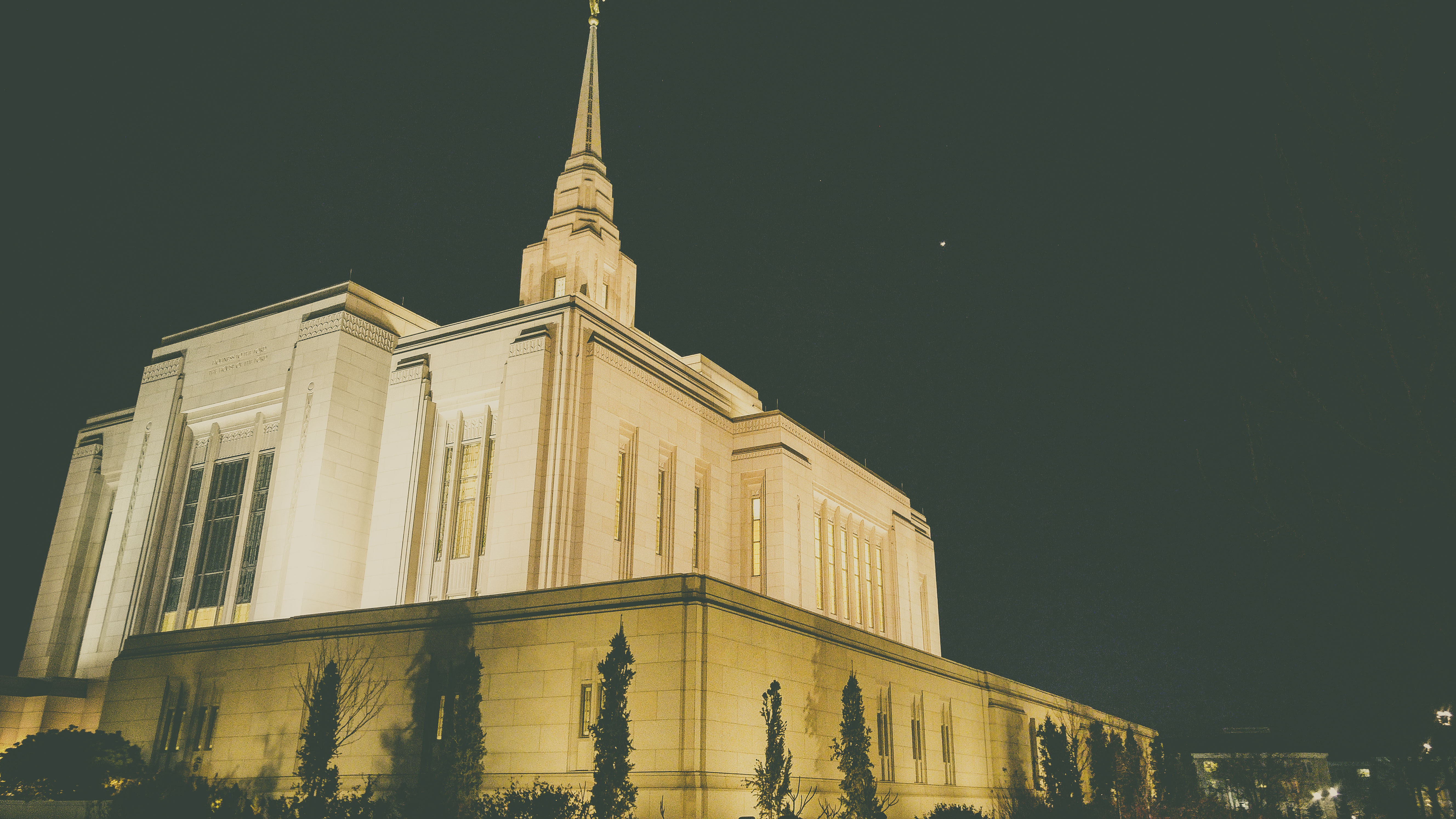 Ogden Temple at Night