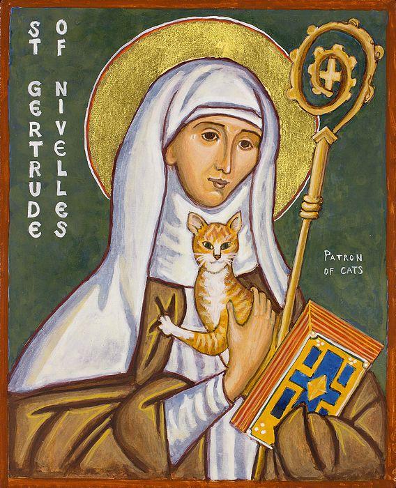 Saint Gertrude 44th great-aunt